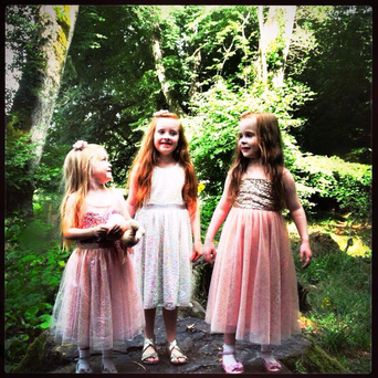 Sisters Gracie (left), Lucy, (middle) and Carly (right) Credit: Family photo