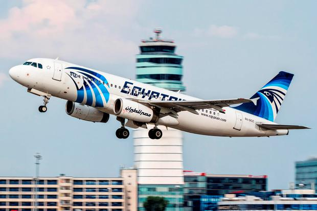 This August 21, 2015 file photo shows an EgyptAir Airbus A320 with the registration SU-GCC taking off from Vienna International Airport, Austria