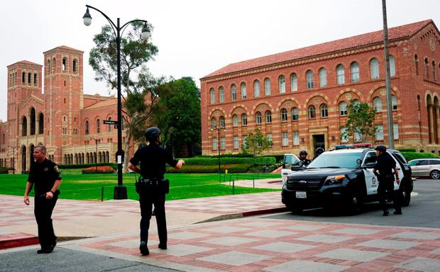 Police work at the scene of a shooting at the University of California, Los Angeles, Wednesday, June 1, 2016, in Los Angeles