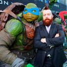 """Stephen Farrelly (Rocksteady) who is best known to his fans worldwide as WWE Superstar """"Sheamus,""""who acts in the film tonight at the Irish premiere of Teenage Mutant Ninja Turtles: Out of the Shadows at the Savoy Cinema,Dublin. Pictures:Brian McEvoy"""