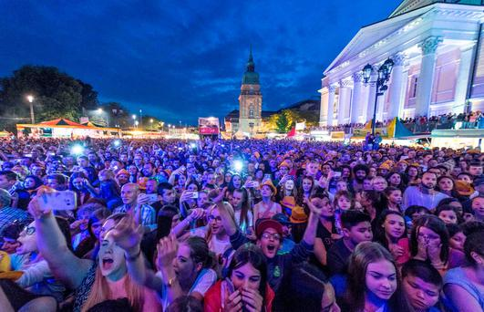 German police arrested three asylum seekers after 18 women have made complaints of sexual assaults at the Schlossgrabenfest music festival in Darmstadt (Getty Images)