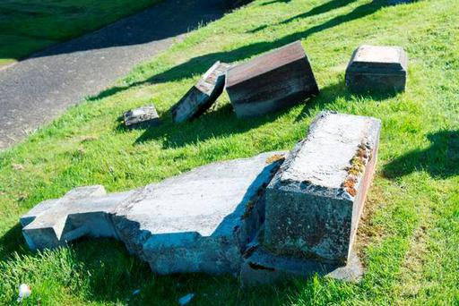 Damage done at city cemetery