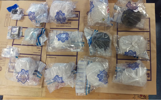 The heroin has an estimated street value of €1.4m and the cannabis herb is worth around €10,000. Photo: An Garda Siochana