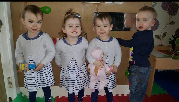 Limerick quadruplets Lucas, Amelia, Lily and Mollie celebrated their second birthday last week