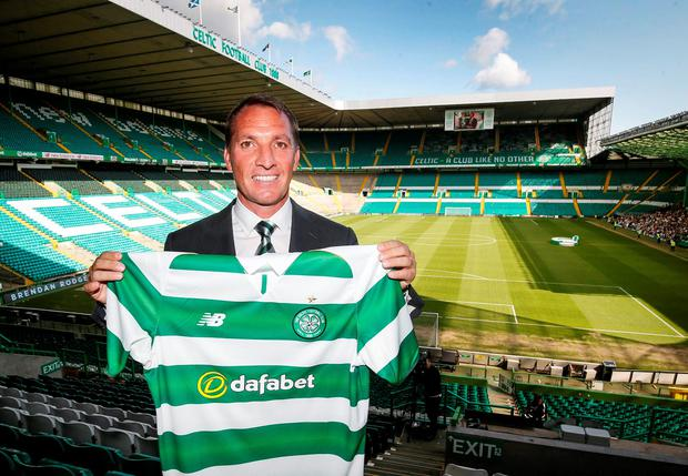 New Celtic manager Brendan Rodgers. Photo: PA