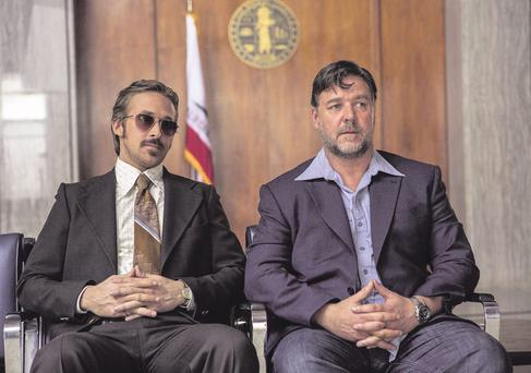 Comedy duo: Ryan Gosling and Russell Crowe.