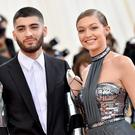 "Zayn Malik (L) and Gigi Hadid attend the ""Manus x Machina: Fashion In An Age Of Technology"" Costume Institute Gala at Metropolitan Museum of Art on May 2, 2016 in New York City. (Photo by Mike Coppola/Getty Images for People.com)"