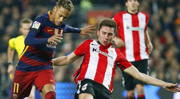 Aymeric Laporte has impressed against players like Neymar Credit: EPA