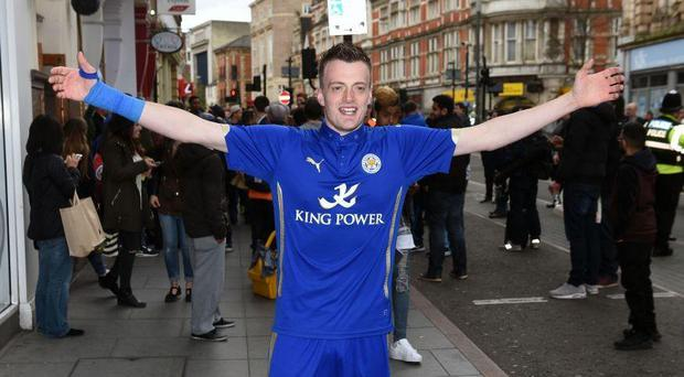Lookalike Lee Chapman has been blocked by Jamie Vardy on social media and labelled 'a stalker' by his wife. PA