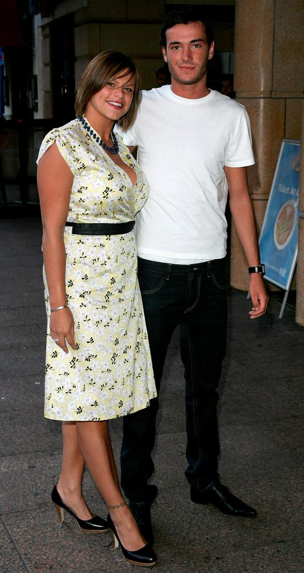 Jade Goody and Jack Tweedy arrive at the UK Charity Premiere of Just My Luck on June 28, 2006 in London. (Photo by Gareth Cattermole/Getty Images)