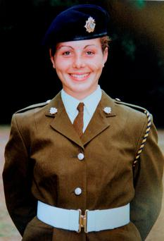Private Cheryl James, one of the soldiers found dead at the Deepcut Army barracks, as a two-decade fight for justice will finally come to an end for her family on Friday, when a coroner delivers the long-awaited ruling into how she died Credit: PA Wire