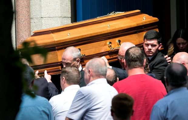 Funeral of Gareth Hutch at The Church of The Holy Family Aughrim Street