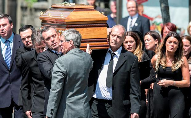 The Funeral of Murder Victim Gareth Hutch at The Church of The Holy Family Aughrim Street