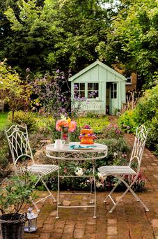 A great garden requires just a little inspiration: Gloucester bistro set from Debenhams.