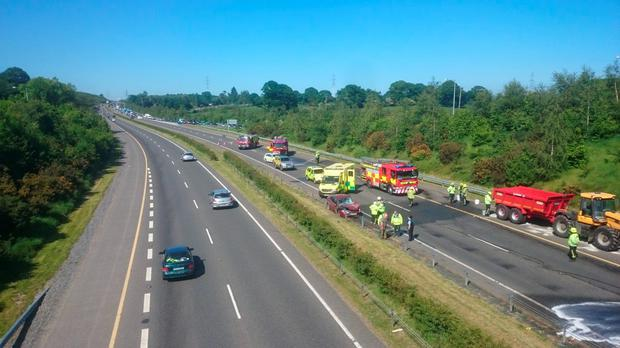 Scene of the collision. Picture: John Downey