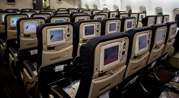 The economy passenger cabin of an Airbus A380 Getty Images