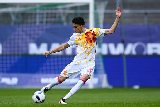 ST GALLEN, SWITZERLAND - MAY 29: Marc Bartra of Spain in action during an international friendly match between Spain and Bosnia at the AFG Arena on May 29, 2016 in St Gallen, Switzerland. (Photo by David Ramos/Getty Images)
