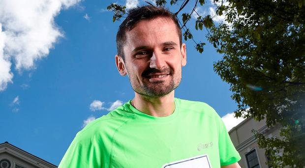 Sergiu Ciobanu after running a road race in Holycross last Thursday. Photo credit: Paul Mohan / SPORTSFILE