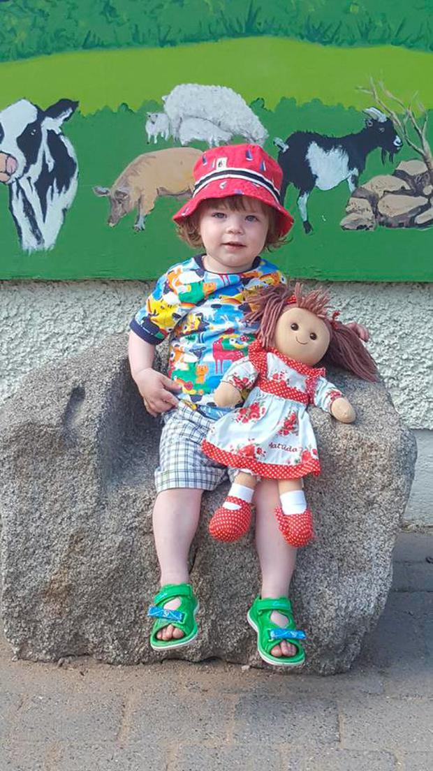 Archie Cray and Matilda Doll. Picture courtesy of family