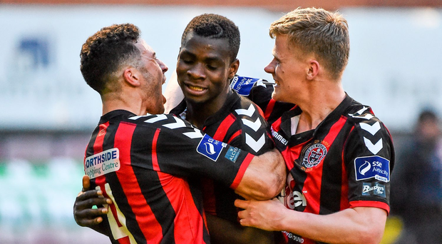 Ismahil Akinade scored for the second week running, earning Bohemians a 1-0 victory. Photo credit: David Maher / SPORTSFILE
