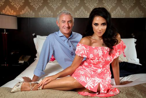 Former Liverpool and Wales footballer Ian Rush and his Irish girlfriend Carol Anthony in their bedroom at the Westbury Hotel in Dublin last week Photo: Tony Gavin.