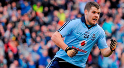 Kevin McManamon in action for Dublin. Photo credit: Stephen McCarthy / SPORTSFILE