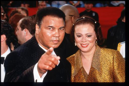 297633 32: Former boxing champion Muhammad Ali and his wife attend the 69th Annual Academy Awards ceremony March 24, 1997 in Los Angeles, CA.