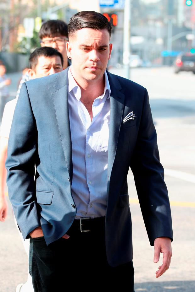Mark Salling arrives for a court appearance at United States Courthouse - Central District of California on June 3, 2016 in Los Angeles, California. Salling is turning himself in to federal authorities and is scheduled to be arraigned on two charges of child pornography. (Photo by Frederick M. Brown/Getty Images)