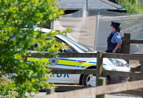 The scene where four children were found allegedly strangled at a home in Co Wicklow. Picture by Fergal Phillips