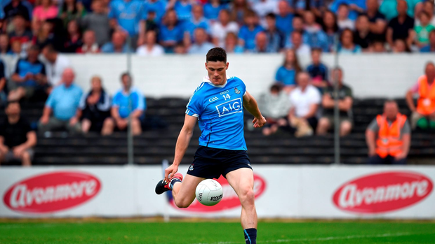 Diarmuid Connolly of Dublin scores the second goal
