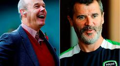 Clive Woodward and Roy Keane