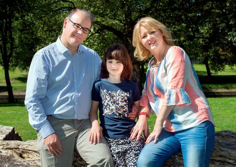 FAMILY: Dave Lawlor with his wife Debbie Corr and daughter, Grace. Photo: Tony Gavin.