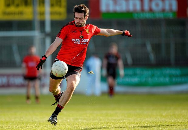 'Now there is an octopus waiting to engulf Kevin McKernan when he comes at speed to take a ball off the shoulder' Photo: Sportsfile