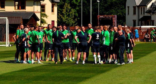Republic of Ireland manager Martin O'Neill with the squad during training in Fota Island Resort, Fota Island, Cork. Photo: David Maher/Sportsfile