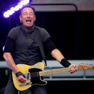 Bruce Springsteen performing at Croke Park. Photo: Peter Morrison/Invision/AP