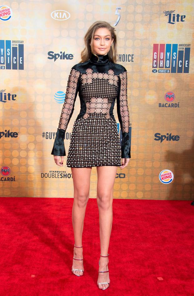 Model/actress Gigi Hadid attends The Spike TV Guys Choice at the Sony Pictures Studios