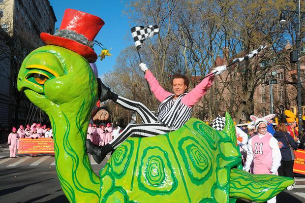 Richard Simmons attends the 87th annual Macy's Thanksgiving Day parade on November 28, 2013 in New York City. (Photo by Bobby Bank/WireImage)
