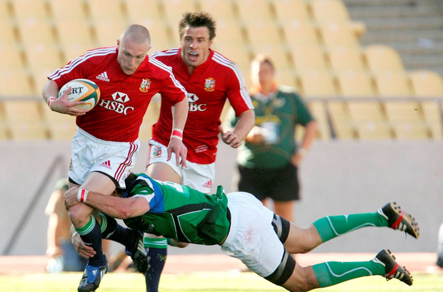 Keith Earls in action for the Lions in 2009