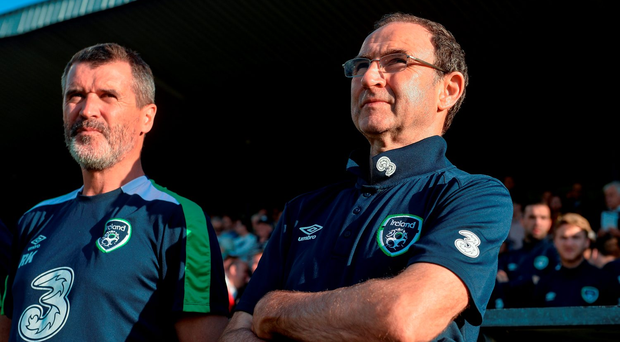 Martin O'Neill and assistant manager Roy Keane