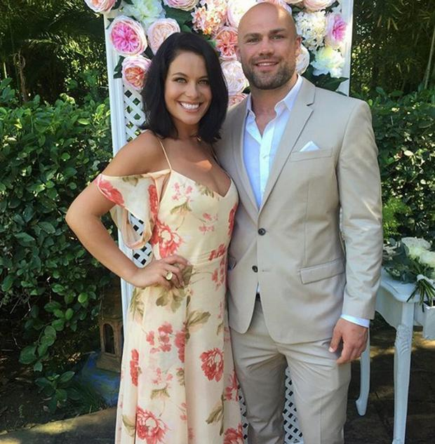 Michele McGrath and Cathal Pendred at Jodie Wood's wedding