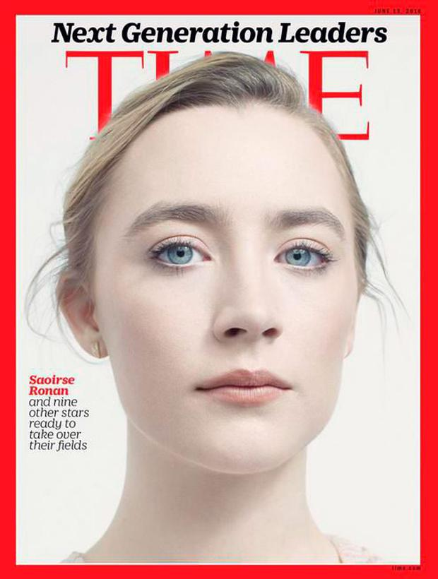 Saoirse Ronan on the cover of Time magazine