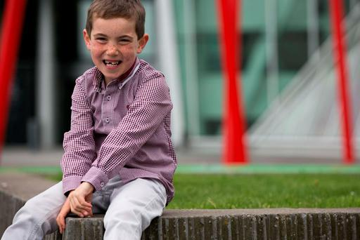 Eight-year-old Caolan Ward was diagnosed with a congenital heart defect at nine-weeks-old. Photo: Shane O'Neill.