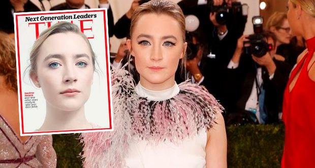 Saoirse Ronan graces this edition's Time magazine cover