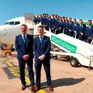 Manager Michael O'Neill and captain Steven Davis are ready to lead Northern Ireland into Euro battle in France. Photo: Oliver McVeigh/Sportsfile