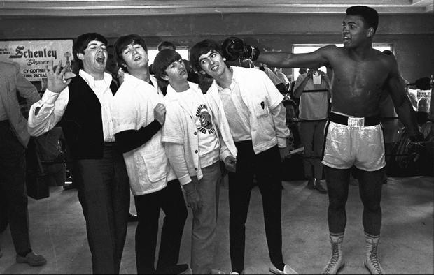 Enjoying a moment with The Beatles