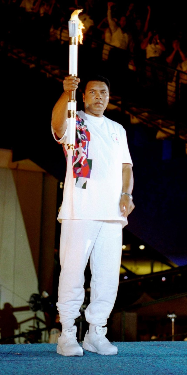 Lighting the Olympic torch in Atlanta in 1996 Photo: Michael Cooper