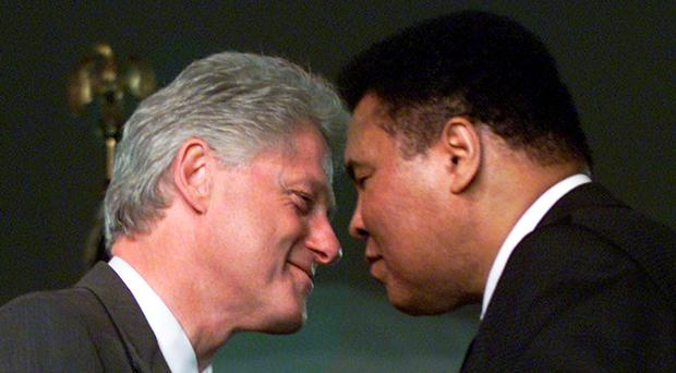 Bill Clinton and Muhammad Ali Photo: Getty Images