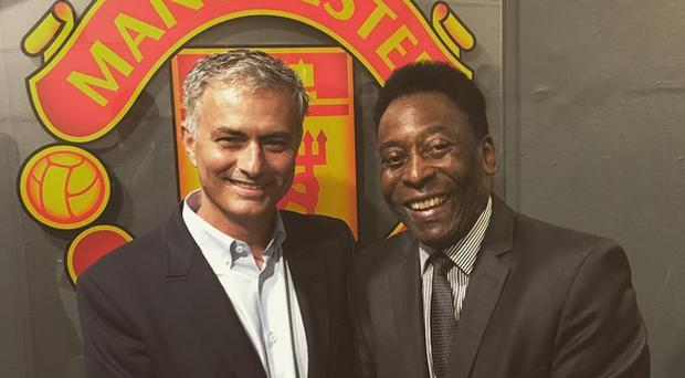Jose Mourinho hosted Pele at Old Trafford