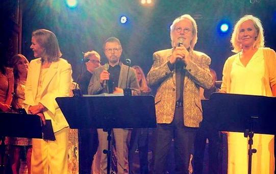ABBA reunite to celebrate Benny and Bjorn's 50th anniversary as friends (Photo: Edward af Sillén)