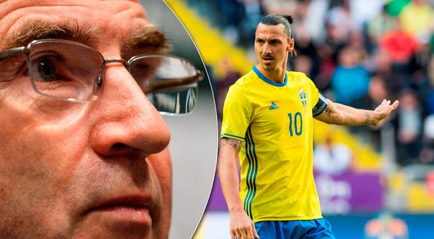 Martin O'Neill will have to formulate a plan to deal with Zlatan Ibrahimovic